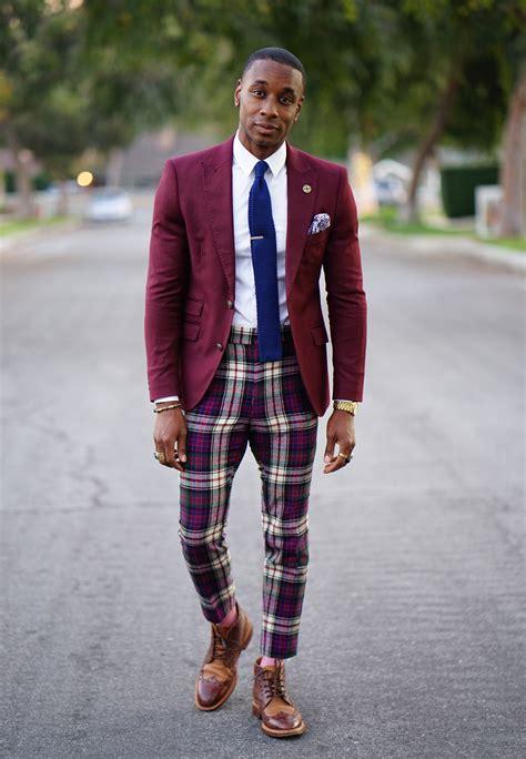 ootd mixing suit jacket  vintage plaid pants norris