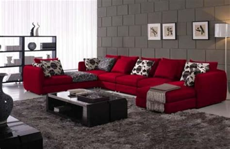 home design living room red couch decor photos pictures