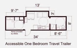 floor plan of fema one bedroon trailer