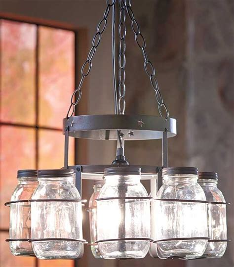 country rustic hanging wrought iron canning jar