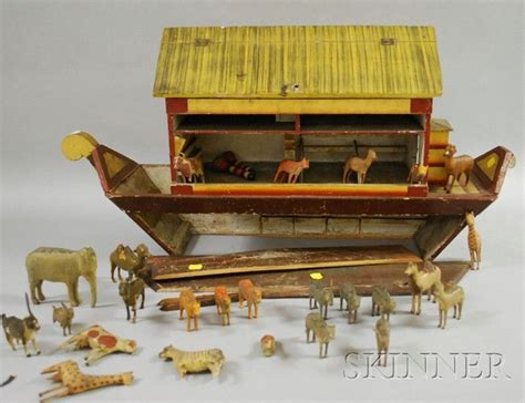 Ark Large Boat by Large Painted Wood Boat Bottom Noah S Ark With Twenty