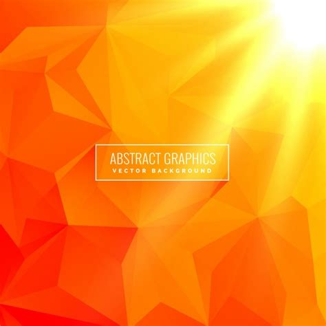 Abstract Orange Shapes by Abstract Orange Background Made With Geometrical Shapes