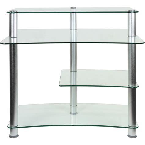 bureau ordinateur en verre bureau pour ordinateur en verre clair