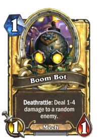 boom bot hearthstone heroes  warcraft wiki