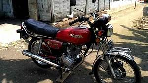 Honda Gl 100 1983 Merah Platina Original