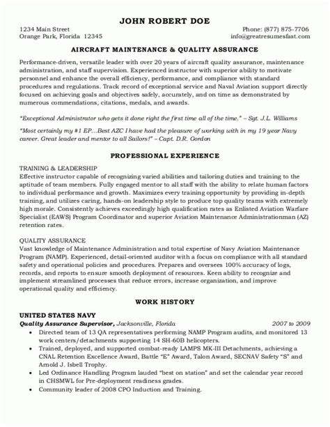 Federal Government Job Resume Example