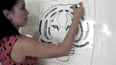 como dibujar  tigre facil youtube