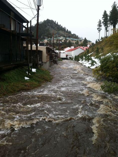 rain lightens flooding eases  keystone rapid city