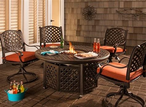 moreaux 5 pc pit dining set outdoor dining rooms