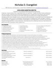 marketing director resume 2014 nicholas evangelisti social media marketing director resume images frompo