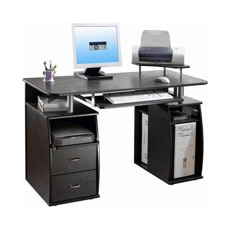 techni mobili desk techni mobili atua wood computer desk in espresso rta