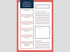 Weekly Schedule Planner Templates Canva