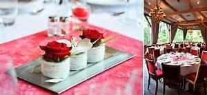 Décoration Mariage Rouge Et Blanc : deco mariage champetre rouge ~ Melissatoandfro.com Idées de Décoration