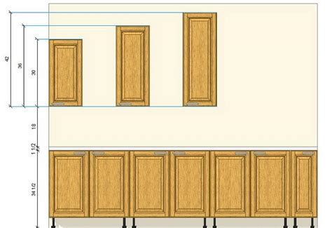 how high should kitchen cabinets be from countertop kitchen what 39 s the common types of kitchen cabinet