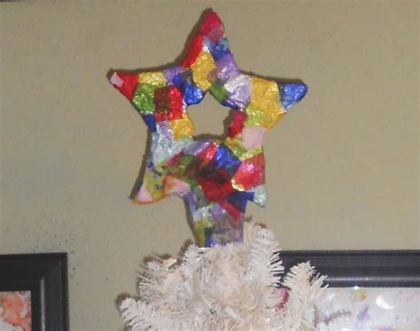 christmas art crafts for kids paper mache star tree