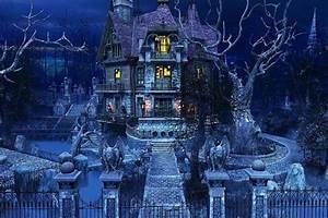Haunted House Wallpaper ·①