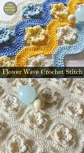Flower Wave Stitch Crochet Pattern Free