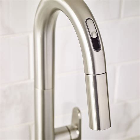 kitchens faucet beale pull kitchen faucet with selectronic free