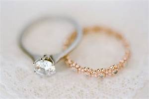 what are the latest trends in wedding bands and engagement With rose gold wedding band with platinum engagement ring