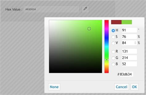 jquery ui color picker without bootstrap phppot