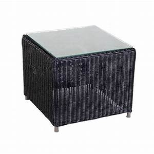 Table Basse Resine Tressee : table d 39 appoint en r sine tress e carr e noire togu ~ Teatrodelosmanantiales.com Idées de Décoration