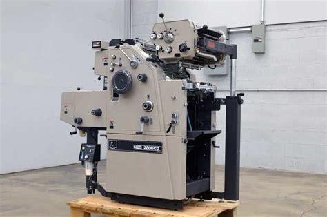 ryobi cd  color offset printing press   color