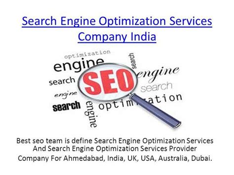 Define Search Engine Optimisation - search engine optimization services authorstream
