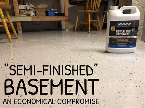 basement ideas semi finished option  economical