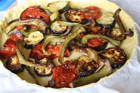 recette tarte salee courgette poivron tomate  ricotta