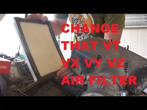 holden vt vx vy vz  air filter change hd youtube