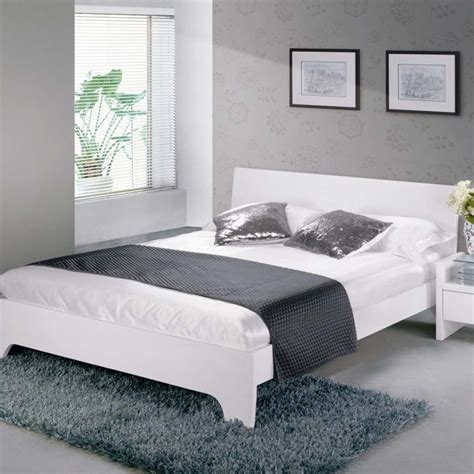White Bed by Limelight Phobos Bed Frame White High Gloss