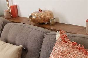 Console Derriere Canapé : this diy sofa table adds much needed storage behind a couch ~ Melissatoandfro.com Idées de Décoration