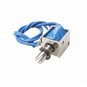 Uxcell 4n Push Type Open Frame Solenoid Electromagnet