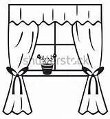 Clipart Window Curtains Clipartmag sketch template