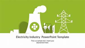 Electricity industry powerpoint template slidemodel for Powerpoint theme vs template