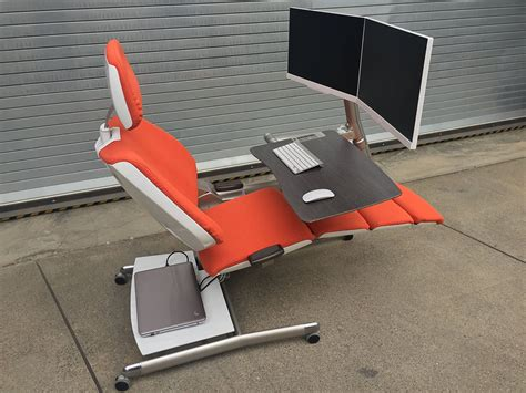 sit stand lay desk altwork station desk chair lets you sit stand and lie