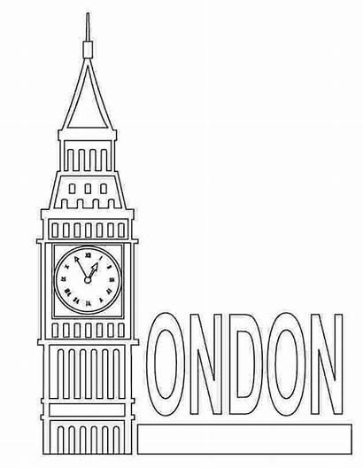 Coloring London Pages Famous Sheets Ben Places