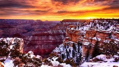 Canyon Grand December National Park Sunrise Desert