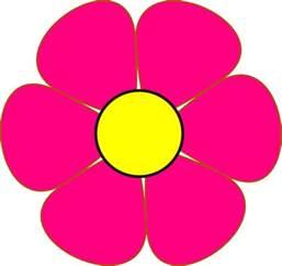 Pink Cartoon Flowers Clip Art