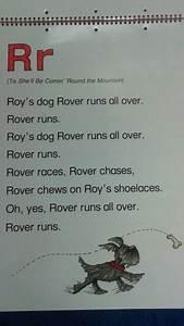 Abc Flip Chart R Alliteration Poem Preschool Songs Alliteration