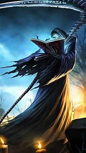 anime, cool, grim, reaper, wallpaper