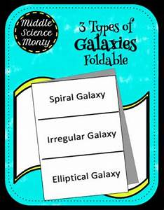 3 Types of Galaxies Foldable by Middle Science Monty   TpT