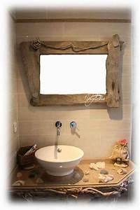Meuble En Bois Flotté : meuble de salle de bain d coration en bois flott et divers d corations ~ Preciouscoupons.com Idées de Décoration