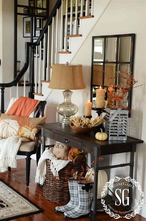 amazing ways  style  console table  fall decor
