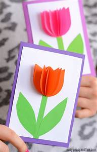 3D Paper Tulip Card - Simple Mother's Day Card Idea - Easy ...