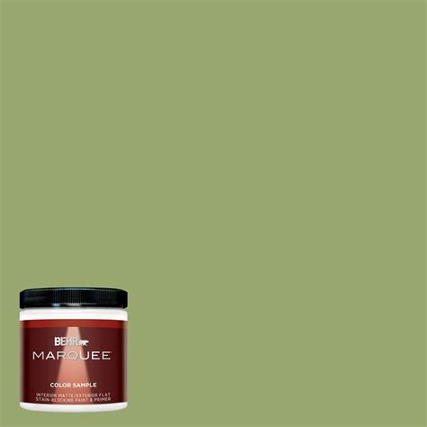 behr marquee 8 oz mq4 43 green plaza interior exterior paint sle mq30416 the home depot