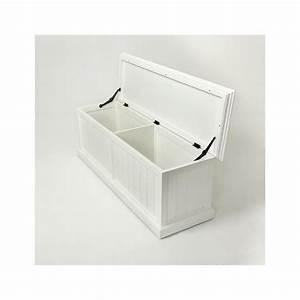 Banc Coffre Bois : banc coffre de rangement en bois blanc royan ~ Teatrodelosmanantiales.com Idées de Décoration