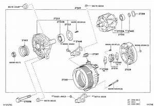 Lexus Ls 430 Cover  Alternator Rear End