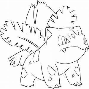 Line Art Ivysaur by lalo175 on DeviantArt