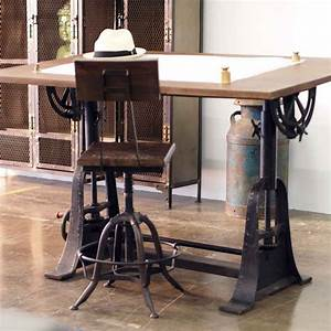 Industrial Style Drafting Desks - Eclectic - Home Office